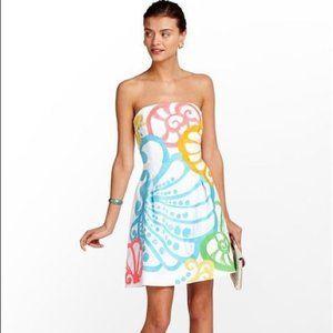 Lilly Pulitzer Neon & White Seashell Sz 0 Dress